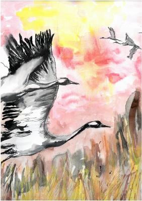 Летят жерави